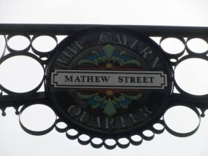 Mathew Street, one of the most famous streets in Liverpool