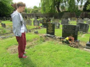 I look over the grave of Stuart Sutcliffe