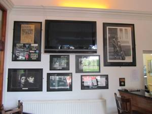 Stuart Sutcliffe memorabilia on the wall