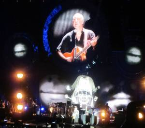 Townshend performs on acoustic guitar