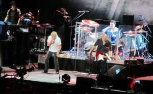 The two men approaching 70 rock the Sheffield Arena
