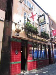 Outside the White Star pub
