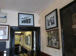 Beatles pictures hang all around the pub