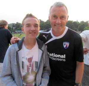 Chesterfield legend and physio Jamie Hewitt, who's son played for Chesterfield tonight