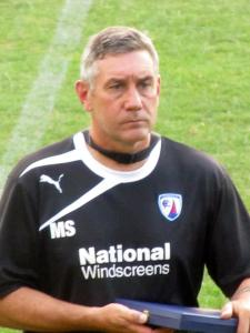 Mark Smith who was in charge of the Spireites this evening