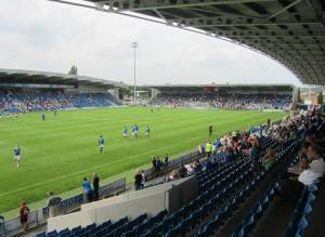 A shot from the corner of the East Stand