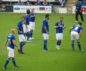The Chesterfield players talk tactics