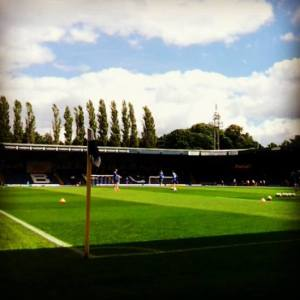 My first view of inside Gigg Lane