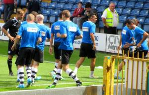 Chesterfield players warm up