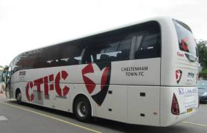 The Cheltenham team coach