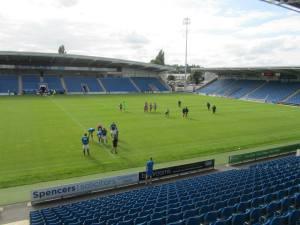 An empty stadium