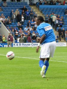 Nathan Smith warms up for Chesterfield