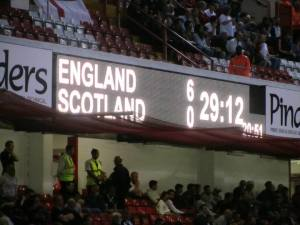 6-0 with nearly half an hour to go (the clock counts down)