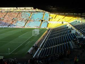 The South Stand was empty for this evening's game