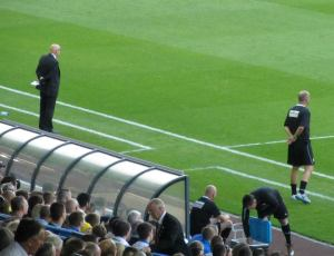 The two managers on the touchline