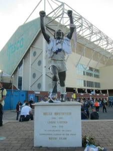 The statue of Leeds legend Billy Bremner