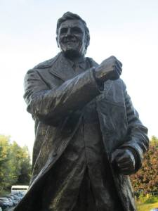 The statue of famous Leeds boss Don Revie