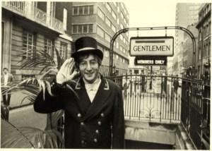 John Lennon outside the gentleman's toilets