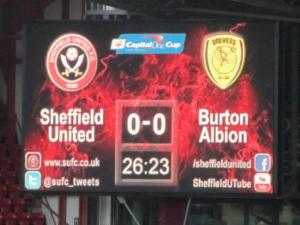 The scoreboard changes to United for Burton Albion!!