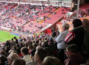 The Kop watches the match's conclusion