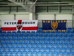 Flags on the away end