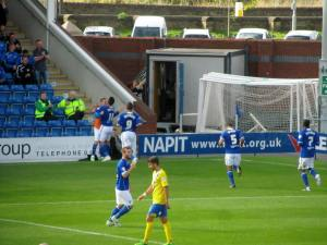 Roberts puts the Spireites ahead