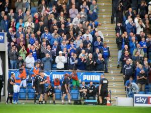 The dugout celebrates
