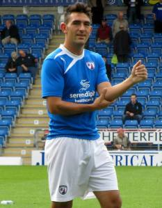 League 2's August player of the month Gary Roberts