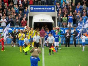 Teams come out of the tunnel