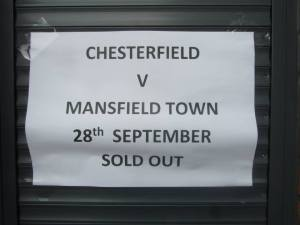 The local derby is a sellout!