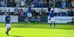 The Chesterfield man leaves the pitch