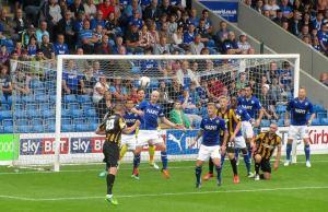 Barry Corr heads goalwards