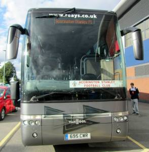 The Accrington team coach