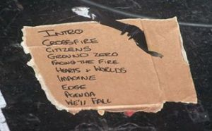 The track list!