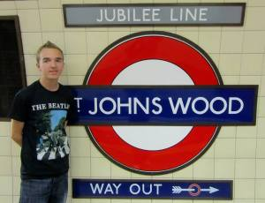 Getting off the tube at St Johns Wood to head to Abbey Road