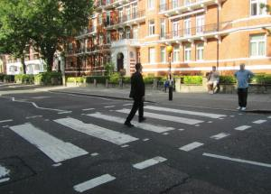 'Ringo' crosses Abbey Road as my Dad looks on