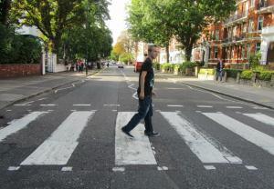Ryan Watterson crosses Abbey Road