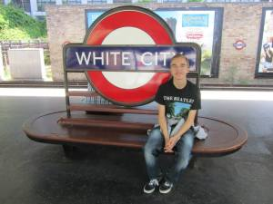 Getting off at the the White City underground