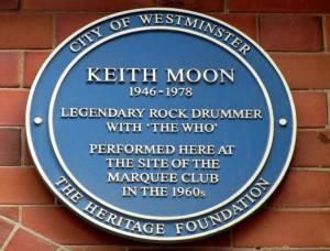 Keith Moon's plaque