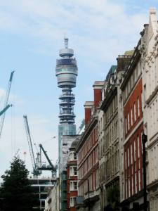The Post Office tower viewed from Wardour Street