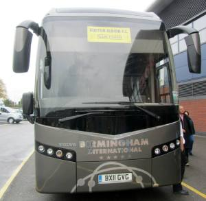 The Burton team coach