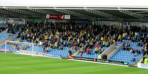 The away end