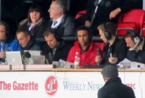 Spireites legend Jack Lester in the commentary box