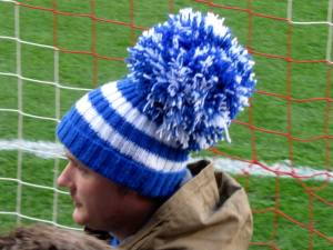 A Chesterfield fan shows off his hat!