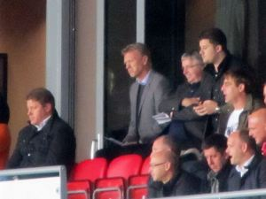 Manchester United manager David Moyes watches the action