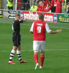 Jon Parkin joins the action in the final minutes