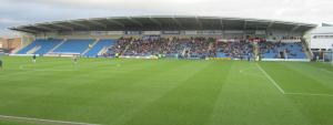 The view from the West Stand, where we sat for the first ever time today