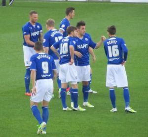 Chesterfield players await kick off