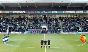 A minutes silence before kick off