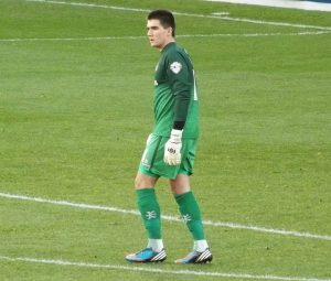 The Wycombe goalkeeper